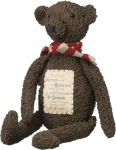 Plush Brown Christmas Stuffed Teddy Bear 19 Inch from Primitives by Kathy