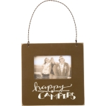 Happy Campers Decorative Mini Wooden Photo Picture Frame (Holds 3x2 Photo) from Primitives by Kathy
