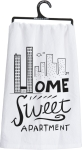 Home Sweet Apartment Cotton Kitchen Dish Towel 28x28 from Primitives by Kathy