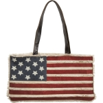 Patriotic Canvas American Flag Tote Bag from Primitives by Kathy