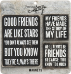 Good Friends Refrigerator Magnet Set from Primitives by Kathy