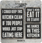 Set of 3 Kitchen Themed Refrigerator Magnets from Primitives by Kathy