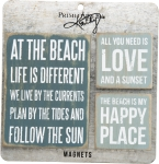 Set of 3 Beach Themed Refrigerator Magnets from Primitives by Kathy