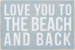 Love You to the Beach and Back Wooden Postcard from Primitives by Kathy