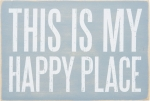 This Is My Happy Place Wooden Postcard 6x4 from Primitives by Kathy