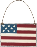 Patriotic American Flag Hanging Ornament by Artist Phil Chapman from Primitives by Kathy