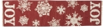 Snowflake Design Red & White JOY Decorative Canvas Table Runner Cloth 56x15 from Primitives by Kathy
