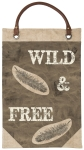 Feather Themed Wild & Free Decorative Wall Décor Banner from Primitives by Kathy