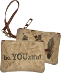 Be You Tiful Small Canvass Wrislet Handbag from Primitives by Kathy