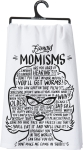 Famous Momisms Quotes Cotton Dish Towel rom Primitives by Kathy