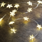 Star Shaped Wire Lights (100 Lights) Battery Operated 209.50 Inch from Primitives by Kathy