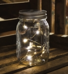 Lighted Glass Mason Jar Home Décor from Primitives by Kathy