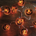 Jack O'Lantern Pumpkin Wire Lights String Battery Operated from Primitives by Kathy