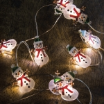 Snowmen String Wire Lights Battery Operated from Primitives by Kathy