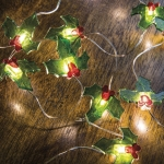 Boughs of Holly Wire Lights String Battery Operated (20 Lights) from Primitives by Kathy