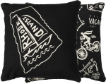 Black & White Rhode Island Themed Decorative Throw Pillow 10x10 from Primitives by Kathy