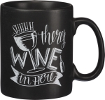 Shhh There's Wine In Here Chalk Art Stoneware Coffee Mug 20 Oz from Primitives by Kathy