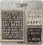 Set of 3 Farmhouse Themed Refrigerator Magnets from Primitives by Kathy