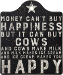 Money Can't Buy Happiness But It Can Buy Cows Trivet Tray from Primitives by Kathy