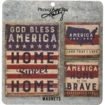 Set of 3 Patriotic USA Refrigerator Magnets from Primitives by Kathy