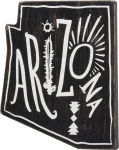 State of Arizona Themed Refrigerator Magnet from Primitives by Kathy
