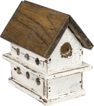 Lighted Chalet Wooden Birdhouse by Artist Larry Cloward from Primitives by Kathy