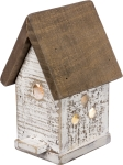 Lighted Cape Cod Design Wooden Birdhouse by Artist Larry Cloward from Primitives by Kathy