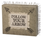 Follow Your Arrow Decorative Canvas Wooden Box Sign 8x7 from Primitives by Kathy
