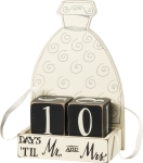 Wedding Dress Design Wooden Wedding Countdown Display (Days 'til Mr & Mrs) from Primitives by Kathy