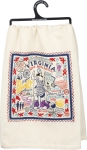 State of Virginia Themed Cotton Dish Towel 28x28 from Primitives by Kathy
