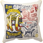 North Carolina Themed Decorative Cotton Throw Pillow 20x20 from Primitives by Kathy