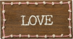 Love Decorative Stitched Magnetic Wooden Block Sign from Primitives by Kathy