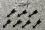 Set of 7 Mini Arrow Shaped Metal Refrigerator Magnets from Primitives by Kathy