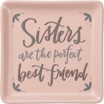 Sisters Are The Perfect Best Friend Decorative Stoneware Trinket Tray from Primitives by Kathy