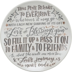 This Plate Belongs To Everyone Decorative Stoneware Giving Plate 12 Inch from Primitives by Kathy