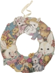 Vintage Inspired Bunny Lamb & Duckling Wreath 14 Inch from Primitives by Kathy