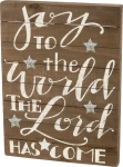 Joy To The World The Lord Has Come Decorative Slat Wood Box Sign 18x24 from Primitives by Kathy