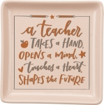 Teachers Shape the World Decorative Trinket Tray from Primitives by Kathy