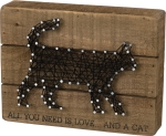 All You Need Is Love And A Cat String Art Wooden Box Sign 8x6 from Primitives by Kathy