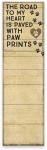 Dog Lover Paw Prints List Notepad (60 Pages) from Primitives by Kathy