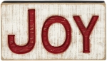 Joy Decorative Carved Wooden Box Sign 9.5 Inch x 5.25 Inch from Primitives by Kathy