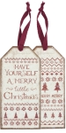 Set of 6 Have Yourself A Merry Little Christmas Wine Bottle Tags from Primitives by Kathy