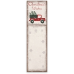 Tree Truck Christmas Wishes Magnetic Paper List Notepad (60 Pages) from Primitives by Kathy