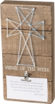 String Art Cross Verse Of The Week Decorative Wooden Box Sign 6x12 from Primitives by Kathy