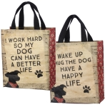 Dog Lover Wake Up Hug The Dog Have A Happy Life Double Sided Daily Tote Bag from Primitives by Kathy