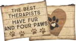 The Best Therapists Have Fur & Four Paws Zipper Pouch Travel Bag from Primitives by Kathy