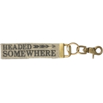 Arrow Design Headed Somewhere Double Sided Canvas Key Chain from Primitives by Kathy