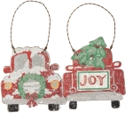 Christmas Trucks Hanging Ornament Set by Artist Phil Chapman from Primitives by Kathy