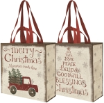 Memories Made Here Merry Christmas Shopping Tote Bag from Primitives by Kathy