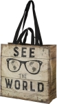 See The World Double Sided Market Tote Bag from Primitives by Kathy